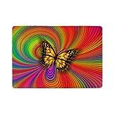Ahomy - Custodia per passaporto, in pelle di alta qualità, con farfalle e arcobaleno, per...
