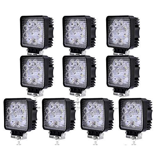 Hengda 10x 27W LED Arbeitsscheinwerfer 12v LED Scheinwerfer Traktor Rückfahrscheinwerfer Auto Zusatzscheinwerfer Offroad Strahler Arbeitslicht für LKW Wasserdicht IP67