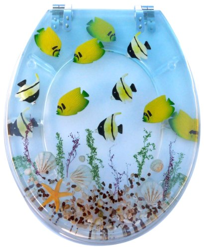 Tropical Fish Resin Toilet Seats Lizabeth Rodes
