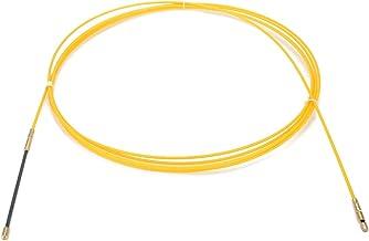 uxcell グラスファイバーフィッシュテープ 電気ガラス繊維ワイヤー 5M イエロー FL3005