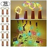 12 Stück LED Flaschenlicht, 20 LEDs 2M Lichterkette Kupferdraht Batteriebetriebene Weinflasche...