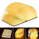 KKTICK LED Livre Lampe,Pliante en Forme Rechargeable Par USB, Magnétique en Bois 360...