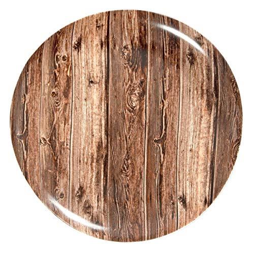 Teller Druk Holzdesign, 28.5x3.9 cm (ØxH), braun, 4 Stück/Packung
