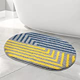 Oval Bathroom Rug Mat, Non-Slip Bath Mat, Ultra Soft and Water Absorbent Bath Carpet, Machine Wash Quick Dry Bath Rugs for Bathroom, Tub, and Shower