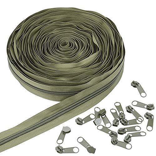BENECREAT 11 Yard/10m Nylon Zippers #5 Sewing Zippers Nylon Coil...