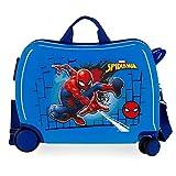 Marvel Spiderman Red Maleta Infantil Azul 50x39x20 cms Rígida ABS Cierre combinación 38L 2,1kgs 4 Ruedas Equipaje de Mano