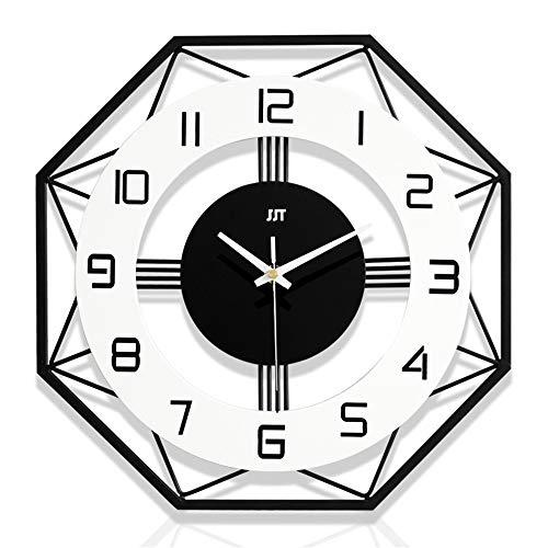 Aloreta Reloj de pared simple nórdico reloj de pared reloj de decoración del hogar reloj de moda creativo reloj de cuarzo...