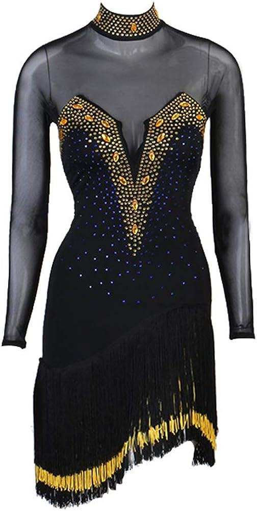 Women Latin Dance Dress quality assurance Ballroom Samba Soldering Tango Cha Salsa Rumba