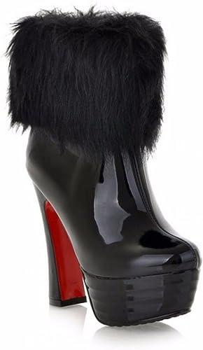 Blanc d'hiver bottes de laine laine laine imperméable Club à talon haut noir ultra courte bottes a31