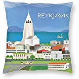 DayToy Stil Reise Reykjavik Island City Art Poster 1 Pack