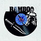 vinywoody Reloj de Pared Disco de Vinilo con Tema de la pelicula Rambo heroe de Guerra