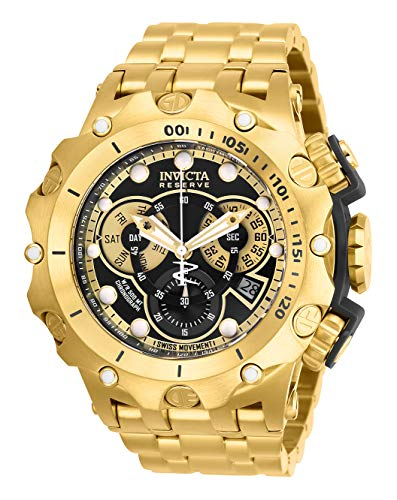 Invicta Men's Reserve Quartz Watch with Stainless Steel Strap, Gold, 31 (Model: 27794)