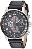 Citizen Men's Eco-Drive Stainless Steel Japanese-Quartz Watch with Leather Calfskin Strap, Black (Model: CA0681-03E)