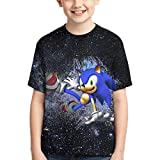 2021 So_nic Pen Sketch T-Shirt 3D Print Tee Tops for Boys & Girls