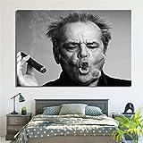 LILHXIU® Wall Art Poster Jack Nicholson Zigarre Poster