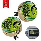 Mann und Drache Aromatherapie Diffusor Golden 2 Pcs Auto Lufterfrischer Deodorant Körperpflege Ätherisches Öl Diffusor 34x46.5mm