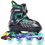 Sowume Adjustable Inline Skates for Girls and Boys, Roller...