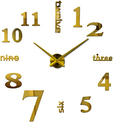 Shuangklei New Home Decorations Big Wall Clock Acrylic Living Room Wall Clocks Quartz Needle Watch Modern