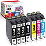 GPC Image エプソン MUG-4CL マグカップ インク 合計7本 ( MUG 4色パック+ MUG-BK 3本)Epson EW-452A EW-052A 互換インク 残量表示機能 2年保証 個包装 大容量