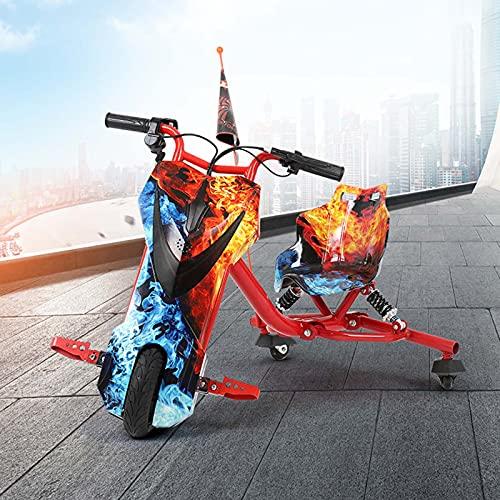 Powerrider 360 Vehículo eléctrico Crazy Bike Sup Amortiguacion Trasera Velocidad máxima 18km/h...