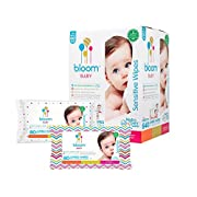"""Baby Wipes by bloom BABY   Unscented   For Sensitive Skin   Formulated for Diaper Area   Water-Based   Infused with Plant-Derived Vitamins   Hypoallergenic   Textured & Thick 8""""x7"""" Wipes   640 Count"""