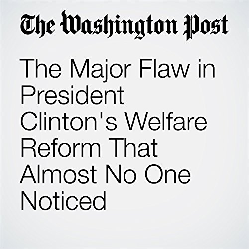The Major Flaw in President Clinton's Welfare Reform That Almost No One Noticed audiobook cover art