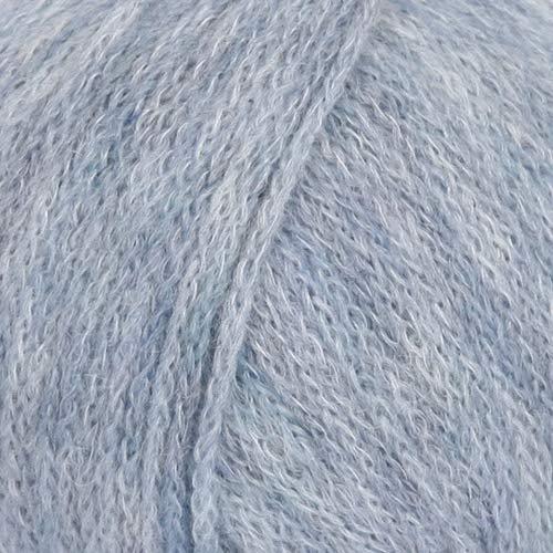 Baby Alpaca and Merino Wool Blend Yarn, 3 Light, DK, Light Worsted, Drops Sky, 1.8 oz 208 Yards (13 Light Jeans Blue)