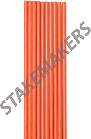 Stakes Snow Poles 48 inches Rods Pack of 25 Driveway Markers 1//4 inch