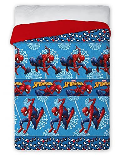 Faro TRAPUNTINO Estivo Spiderman Marvel Coperta 120 GR Letto Singolo 170X250 CM - SPIDER-MAN037