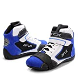 ARCX L60605 Cowhide Motorcycle Boots with Detachable Protective Shifter Pads Hi-top Men's Sneakers