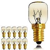 Lot de 10 ampoules pygmées SES E14 avec culot à baïonnette - Ampoules pour four/micro-ondes résistant jusqu'à 300 °C - Ampoules de nuit, E14 25.00W 240.00V