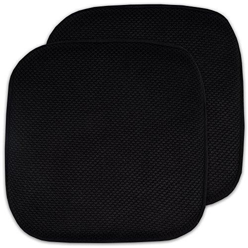 2 Pack Memory Foam Honeycomb Nonslip Back 16' x 16' Chair/Seat Cushion Pad