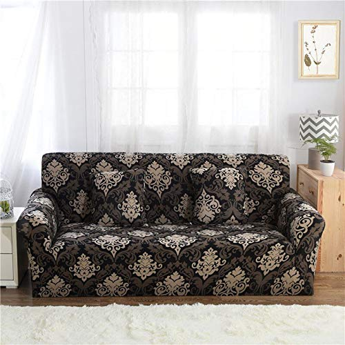 Funda de sofá con patrón de Costura geométrica y de Color, Utilizada para la Toalla del sofá de la Sala de Estar, Funda para Mascotas, Funda elástica para sofá A16 de 2 plazas