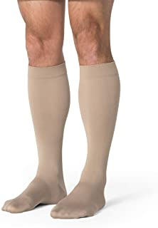 جوارب SIGVARIS رجالية أساسية غير شفافة 860 مغلقة من الأمام تصل إلى الساق 20-30 مم زئبقي