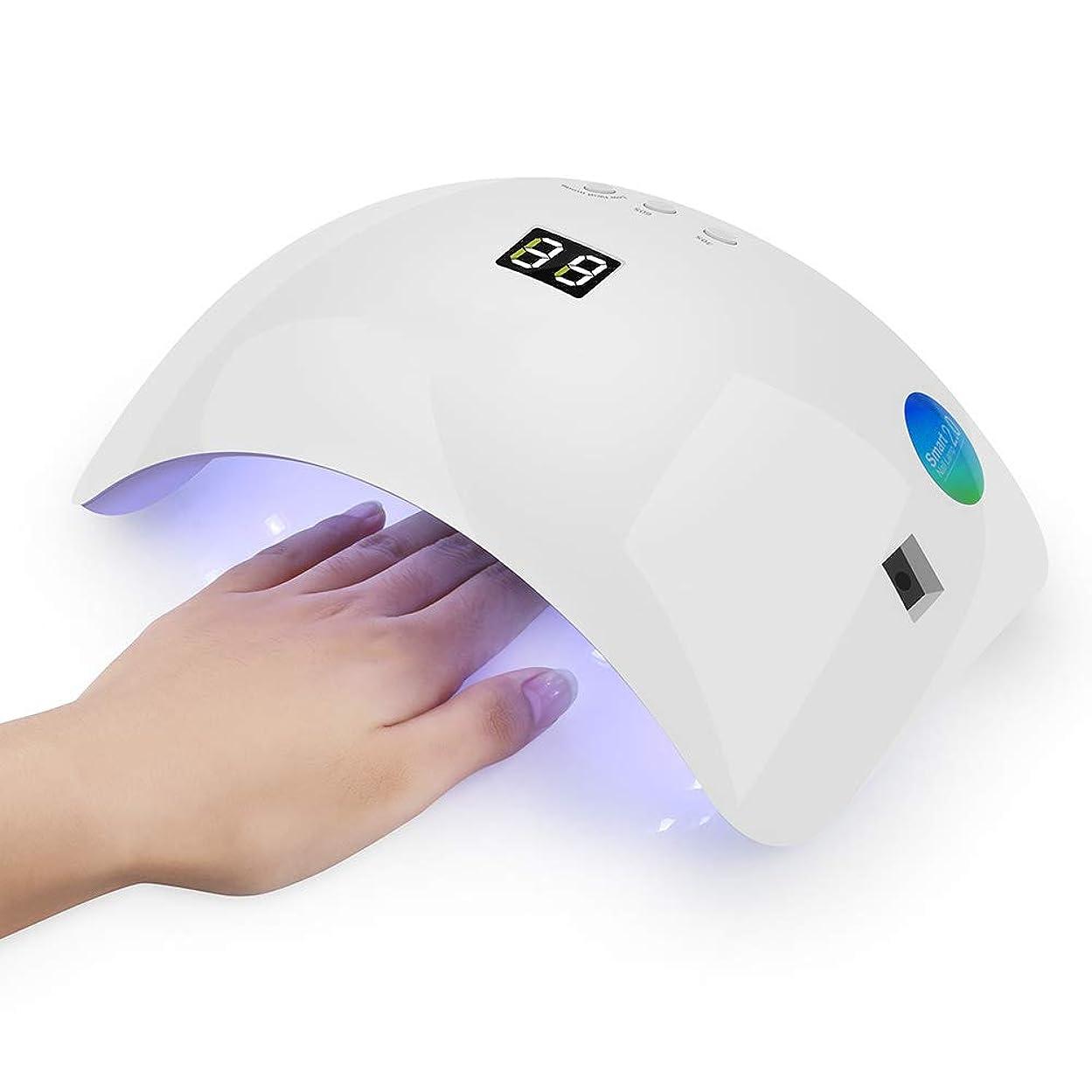 和らげるホラー甘くする3つのタイマーの設定が付いているゲルの磨くニスのための48W の爪のドライヤー21の戦略的配置は完全な大広間用具の紫外線 LED の釘ライトを導きました