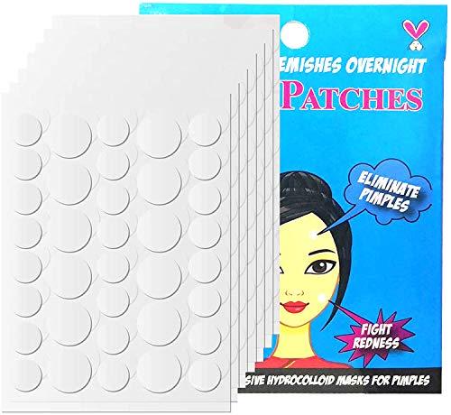 GeekerChip 252 pimple patch,pickel patch Pflaster Unsichtbar Pickelpatches für Gesicht Akne Behandlung Aknepflege(10mm+8mm)
