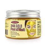 Maschera per il viso in oro 24k, maschera per la rimozione dei punti neri, maschere per il viso rimovibili per il trattamento viso antirughe antietà