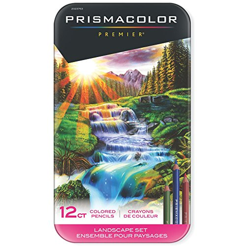 Prismacolor Premier Colored Pencils, Soft Core, Landscape Set, 12 Count