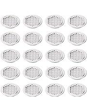 20 stuks 53 mm roestvrij stalen ventilatierooster rond, ventilatierooster ventilatierooster ventilatierooster roestvrij staal ventilatierooster ventilatierooster
