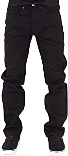 Rocawear Mens Boys Black Double R Star Relaxed Fit Jeans