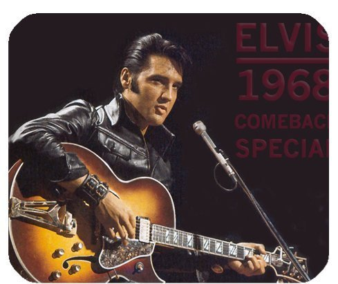 Elvis Presley Mousepad Personalisierte Custom Mauspad Oblong Geformte in 25x 20cm Gaming Maus Pad/Matte