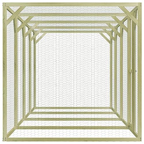 vidaXL Kiefernholz Imprägniert Hühnerkäfig Hühnerstall Hühnerhaus Geflügelstall Freilaufgehege Hühnervoliere Kaninchenstall Freilauf 1,5x6x1,5m