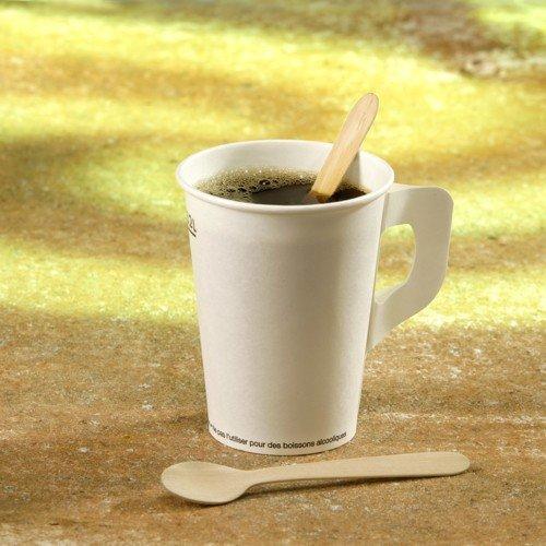 4 X 100 Kaffeelöffel aus Holz 11 cm Einweglöffel