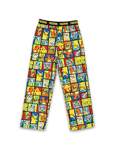 Pokemon Pikachu Kids Pajama Lounge Pants (10-12, Multicolor)