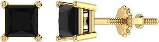 Best 1 carat princess cut black diamond earrings Reviews