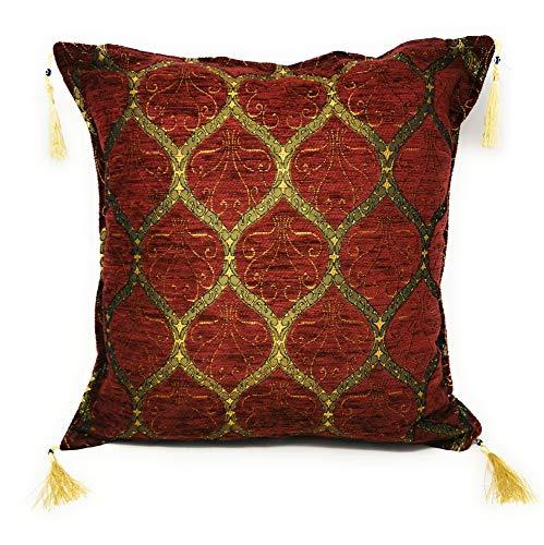 Aga's Own Cord Weiches Massiv Dekorativen Quadratisch Überwurf Orient Orientalisches Kissenbezüge Kissen für Sofa Schlafzimmer Auto 18