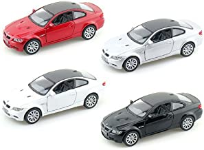 Set of 4: BMW M3 Coupe 1:36 Scale (Black,Red,Silver,White)