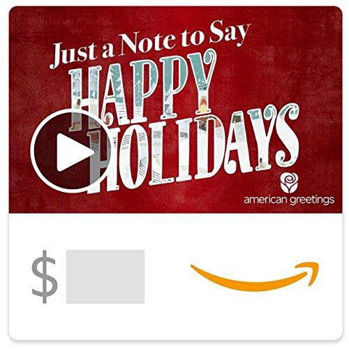 Amazon eGift Card - Happy Holidays (Animated) [American Greetings]