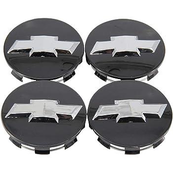 2014-2020 Chevy Polished Center CAPS Permanent Black Bowties 3.25 83mm 4pcs One Stop Shop
