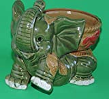jmbamboo-Jumbo Size Elephant Ceramic Vase 7'' inches Tall for Lucky Bamboo